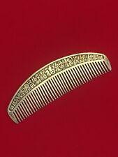 More details for large antique chinese ladies comb with many chinese characters decoration