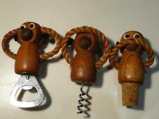 Vintage Hear No Evil Speak No Evil See No Evil Wood Monkey Bar Tools