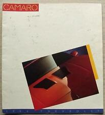 Chevrolet Camaro LF sales brochure 1986 #4561 IICO-Z28 Berlinetta sport coupé