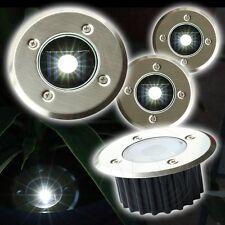 4 x Solar LED Einbauleuchte AKKU Boden Außen Strahler Leuchte Fluter Lampe Licht