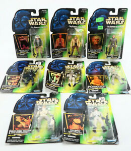 Star Wars POTF Action Figure Rebel Alliance Imperial Lot of 8 Green Cards Open