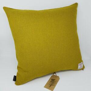 Green Plain Wool Harris Tweed Cushion Cover handmade genuine all sizes