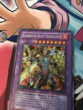 1x (NM)Gladiator Beast Heraklinos GLAS-EN044 Secret Rare 1st Edition YuGiOh