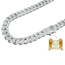 """Custom Full Icy 12mm Cz Baguette Miami Cuban Curb Link Choker Necklace Chain 20"""""""