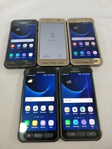 LOT of 5 Samsung Galaxy S7 Active G891A AT&T ONLY Smartphone Assorted Color #913