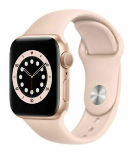 Apple Watch Series 6 40mm Gold Aluminum Case with Pink Sand Sport Band