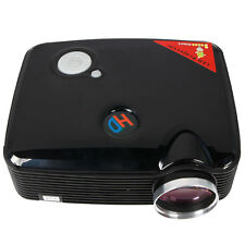 New PH5 Home Cinema 2500 Lumens black HD LED Projector 1080P HDMI USB TV DVD US
