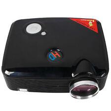 New PH5 Home Cinema 2500 Lumens black HD LED Projector 1080P HDMI USB TV DVD US