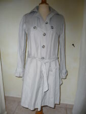 "IMPERMEABLE TRENCH GRIS CLAIR ""SINEQUANONE"" TAILLE 38"