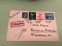 Germany Schluckenau 1944 Berlin registered stamps cover  ref 50563