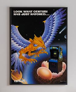 Phoenix Centuri Arcade Video Game Retro Print Poster 18x24 inches