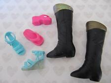 Hannah Montana Miley Cyrus Lilly Friend Doll~Black Boot Wedge Sandal Shoes Lot 4