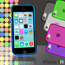 New Gel Case For iPhone 5c 5 c + Screen Guard TPU Jelly Skin Soft Cover