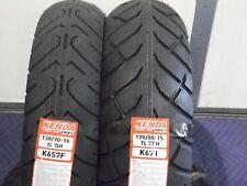"YAMAHA V-STAR 650 CLASSIC XVS650 2 TIRE SET MOTORCYCLE TIRES 16"" K657 15"" K671"