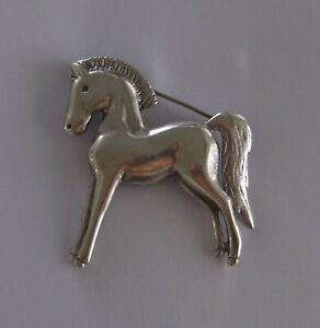 Gift For Her Gift Fine Jewelry Pin Vintage Sterling Silver Pony Colt Filly HORSE Brooch Gift Under 45 Dollars on Etsy