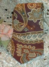 RaLpH LaUrEn  ~ POLO ~ Necktie ~  Paisley Print ~ Mauve & Gold ~ Neck Tie