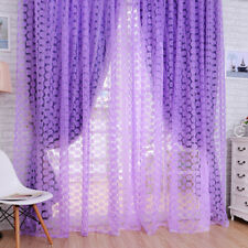 Purple Rose Tulle Window Screens Door Balcony Curtain Panel Sheer Scarfs