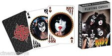 Kiss - Carte Da Poker Playing Cards Official Deck 52 images Gene Paul Ace Peter