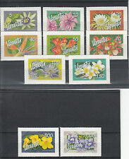 Vanuatu 2006 MNH Tropical Flowers Definitives 10v S/A Set Flora