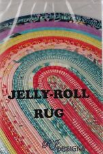 "PATTERN - Jelly Roll Rug - fun PATTERN for 2.5"" strips - RJ Designs"