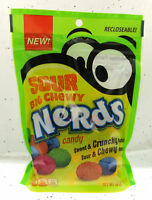 Sour Nerds Big Chewy  ~ Crunchy and Chewy Candy ~ 10oz Recloseable Bag