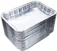 "30 Pcs. Drip Pans Small 7.5"" x 5"" Aluminum Fits Weber Q, Spirit Gas Grills BBQ"