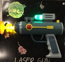 New Rick and Morty Laser Gun Toy SCRATCHED Halloween Costume Prop Lights Sounds