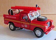 OXFORD CARARAMA LAND ROVER SERIES III 109 FIRE BRIGADE RESCUE 1:43 SCALE RED