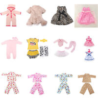 12 Pattern 18''/22'' Doll Clothes Nightwear Dress Newborn Reborn Baby Girl Gift