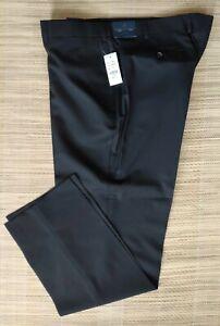 Brooks Brothers men's black plain trousers size W42, W40 - Milano Fit,100% Wool