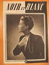 NOIR et BLANC 59 du 27/3/1946-A Paris, les plus jolies femmes portent des colli