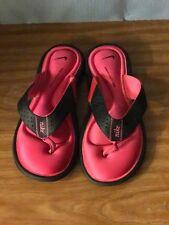 Nike Comfort Footbed Flip-Flops Sandals Black /Pink Women Size 7
