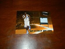 RUSSELL WESTBROOK 2008-09 PRESS PASS FUSION UCLA GAME USED JERSEY 2 COLOR 24/50