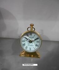Nautical Antique  Brass Table Clock Vintage Replica Gift A Home Decor