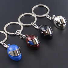 Car Home Key Chains Rings Boys Motorcycle Helmet Simulation Pendant Cute Gadget