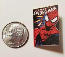 Miniature dollhouse book 1/12  Comic Book Tv show Spider-Man Action Figure Face