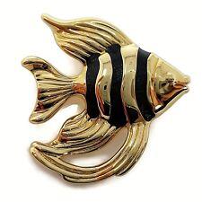 Aya Azrielant Artform Angel Fish Pin Brooch 14K YG Puffy Yellow Gold 3.67g