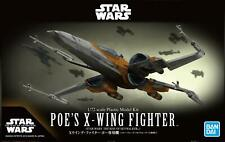 Star Wars The Rise of Skywalker Poe's X-Wing Fighter 1:72 Scale BANDAI Model Kit