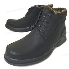 NIB Mens Winter Ankle Boots Warm Fur Lined Lace Up Black Snow Shoes Sizes:6.5-13