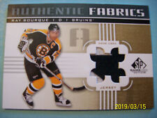 "2011-12 UD (SP Game-Used) 2-Color ""Authentic Fabrics"" Jersey #AF-RB Ray Bourque!"