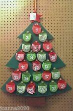Gisela Graham Stoff Filz Weihnachtsbaum Adventskalender für Zuhause, Kinder