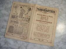 Catalogue aux Trois Quartiers 1921  Vente au Profit du Secours Franco-Américain