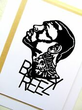 "CHRIS BROWN, Breezy Original Hip-Hop,Clear Vinyl decal Sticker 4""X 6"" inches"