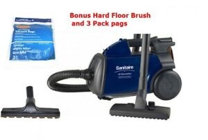 Sanitaire Canister s3681 with bonus wood floor brush and 3 pack bags New