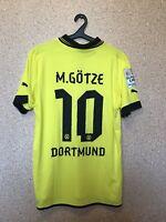 BORUSSIA DORTMUND GERMANY 2012/2013 HOME FOOTBALL SHIRT PUMA #10 Mario Götze