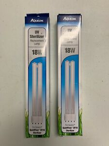 LOT OF (2) x Aqueon GENUINE UV Sterilizer 18W Replacement Lamp - BRAND NEW