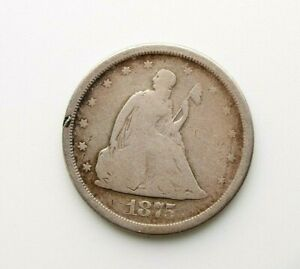 1875-S Liberty Seated Silver Twenty Cent 20c - Type Coin