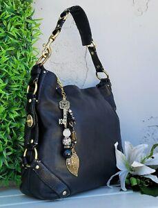 Coach vintage LRG carly black 10616 smooth Leather Hobo Shoulder Handbag Purse