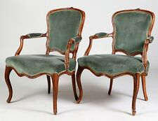 PAIR OF FRENCH WALNUT FAUTEUILS EN CABRIOLET Lot 81