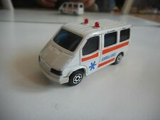 Majorette Sonic Flashers Ford Transit Ambulance in White